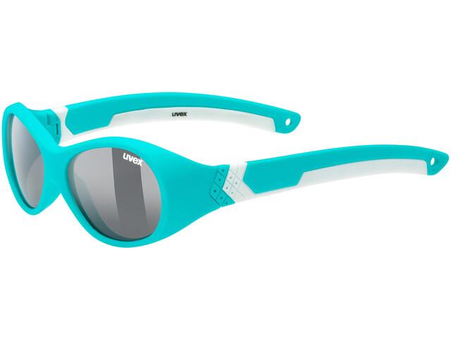 UVEX Sportstyle 510 Glasses Kids turquoise white/smoke